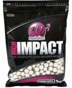 MAINLINE High Impact Boilies Diamond Whites - Kulki 1kg