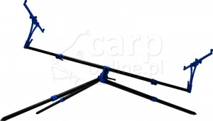 MECCANICA VADESE Pod Tech-Nick 3 Rods-Black Tubes & Blue Joints - Statyw