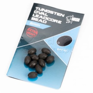 NASH Tungsten Oval Leadcore Bead 8mm
