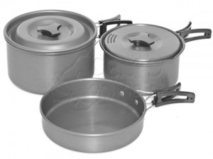 TRAKKER -  Armolife Three-Piece Cookware Set -  Zestaw naczyń