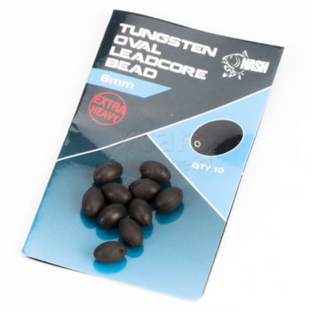 Tungsten Oval Leadcore Bead 8mm